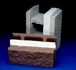Korfil insulated cmu barnes cone inc concrete for Styrofoam block walls